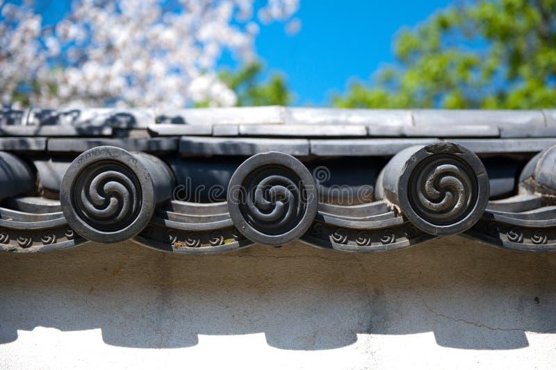 Dettaglio giapponese del tetto fotografia stock libera da diritti