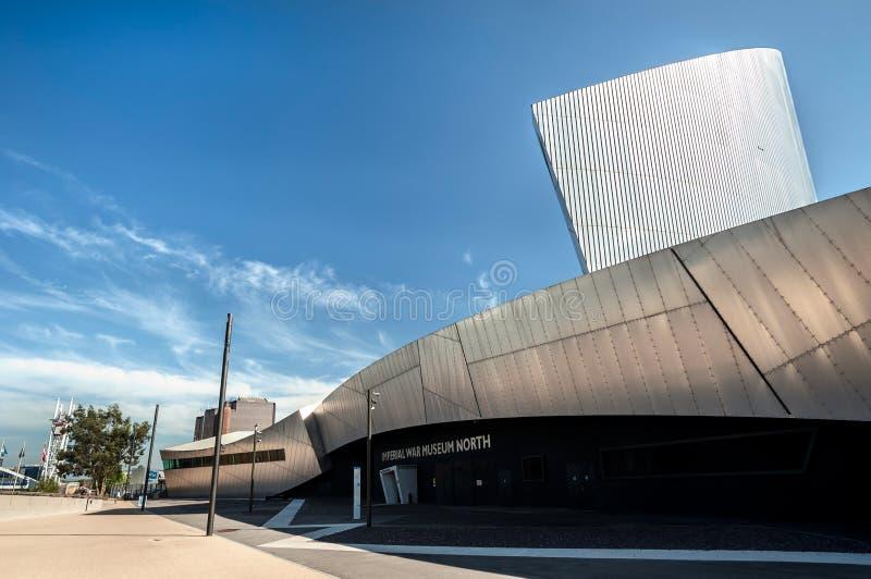 Dettaglio imperiale del museo di guerra, banchine di Salford, maggior Manchester, Regno Unito fotografia stock
