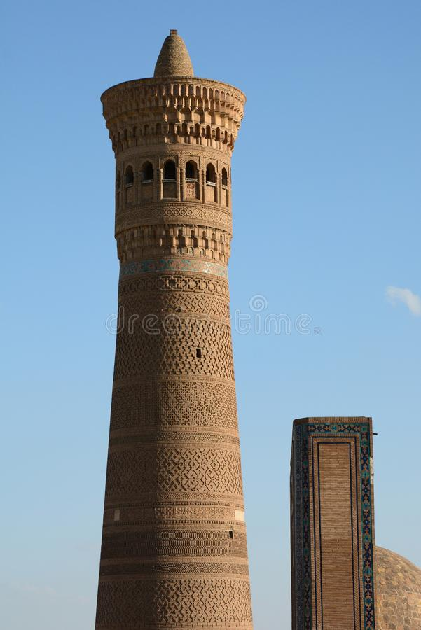 dettaglio Kalyan Minaret Complesso Po-io-Kalyan buchara uzbekistan immagini stock libere da diritti