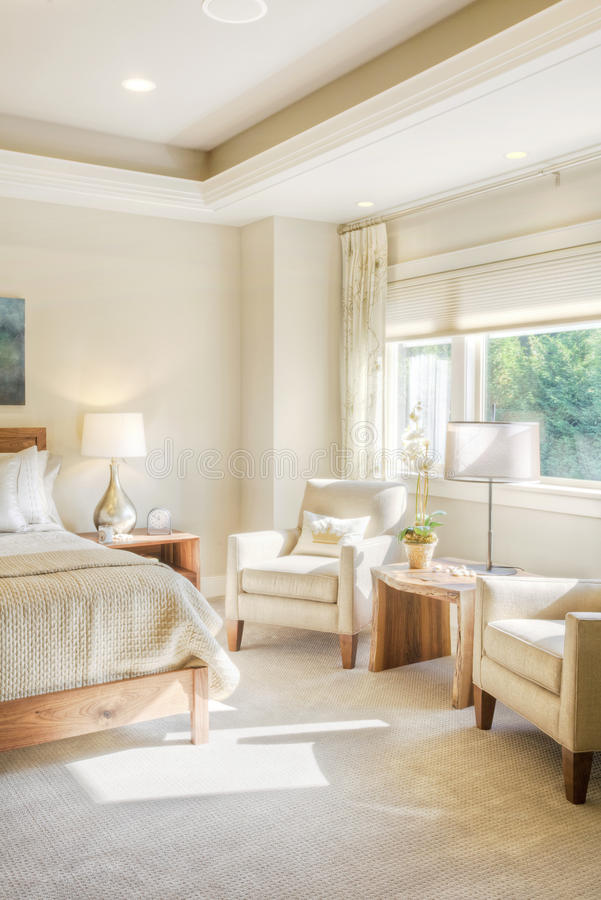 Dettaglio lussuoso della camera da letto immagini stock
