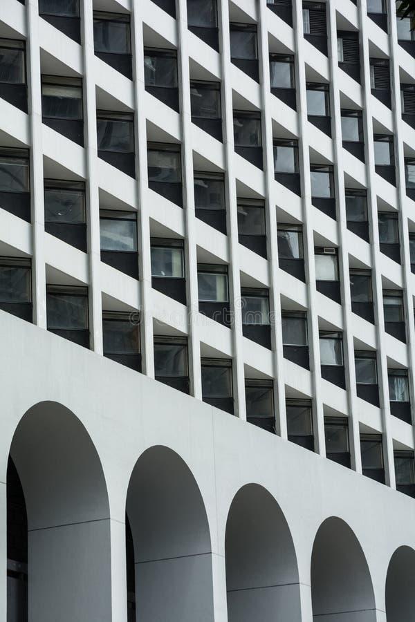 Dettaglio moderno di architettura - Hong Kong, Cina immagini stock libere da diritti
