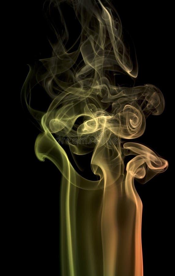 Dettaglio multicolore del fumo fotografia stock libera da diritti