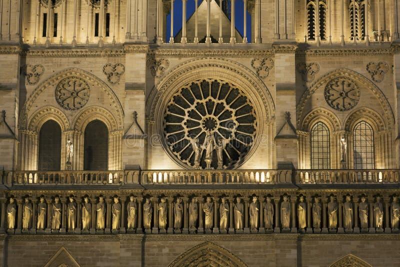 Dettaglio nella cattedrale di Notre Dame, Parigi fotografia stock libera da diritti