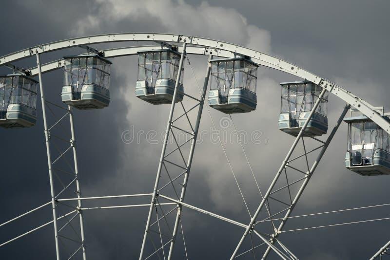 Dettaglio panoramico della grande ruota di ferris immagine stock libera da diritti