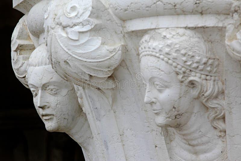 Dettaglio, scultura, Venezia, Italia immagine stock libera da diritti