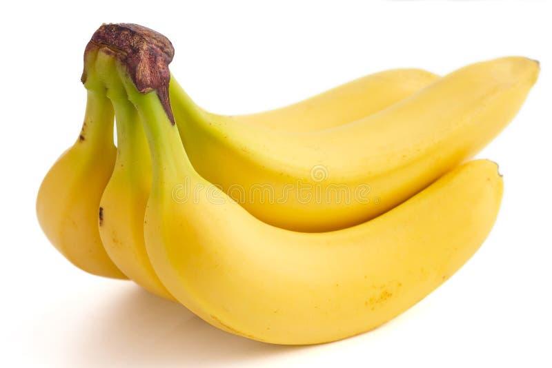 Dettaglio su un casco di banane fotografia stock