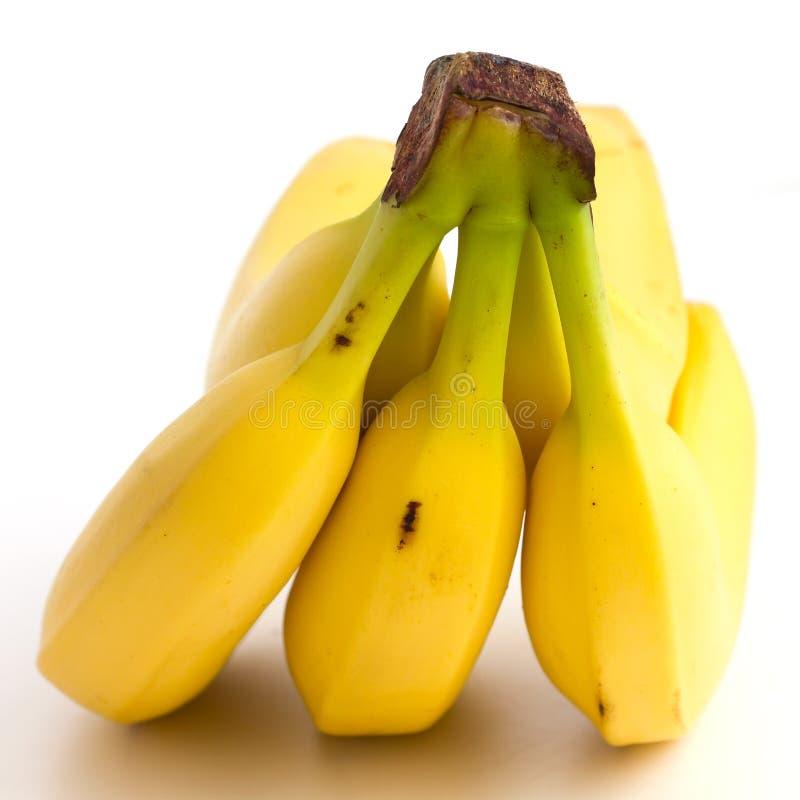 Dettaglio su un casco di banane fotografia stock libera da diritti