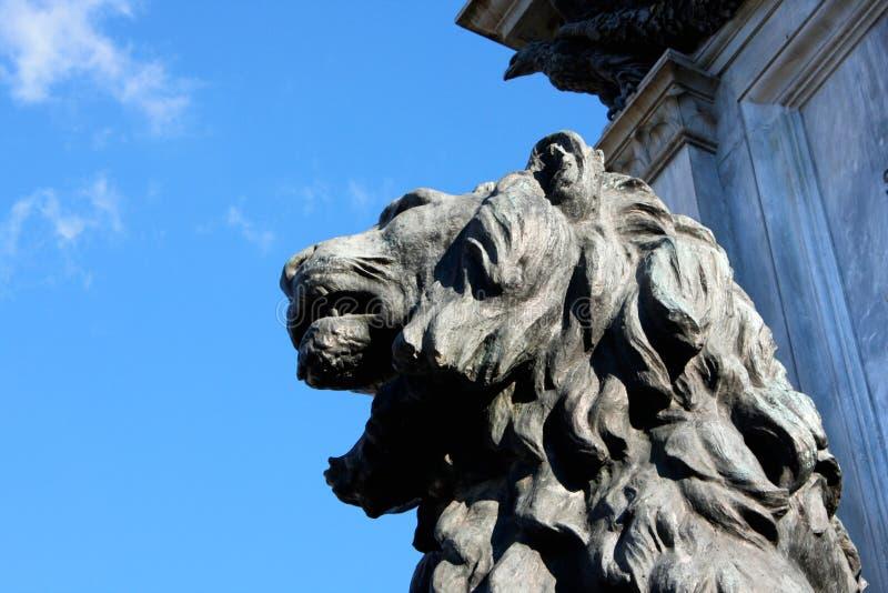 Dettaglio sul monumento a Cavour sul quadrato del suo nome a Roma, immagine stock
