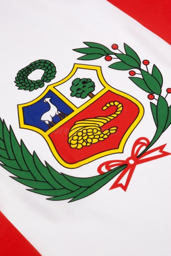Dettaglio sulla bandiera del Perù fotografia stock
