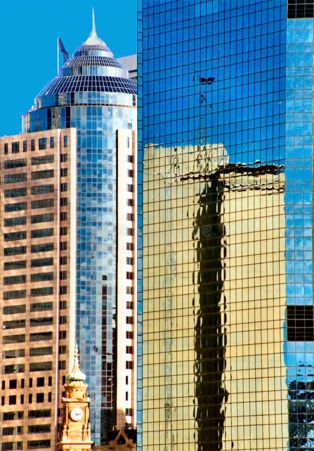 Dettaglio, Sydney Skyline Reflections fotografia stock libera da diritti