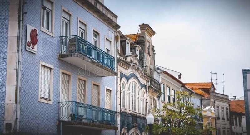 Dettaglio tipico di architettura della casa a Aveiro, Portogallo fotografie stock libere da diritti