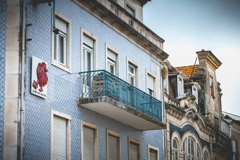 Dettaglio tipico di architettura della casa a Aveiro, Portogallo fotografia stock libera da diritti