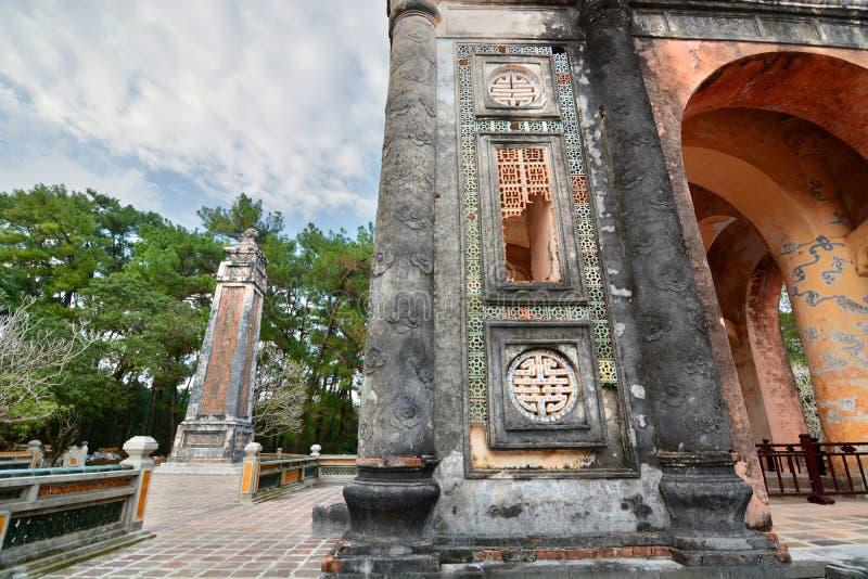 dettaglio Tomba del Tu Duc Hué vietnam immagine stock libera da diritti