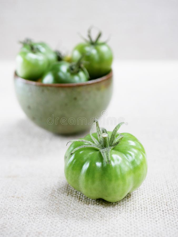 Dettaglio verde del pomodoro fotografia stock libera da diritti