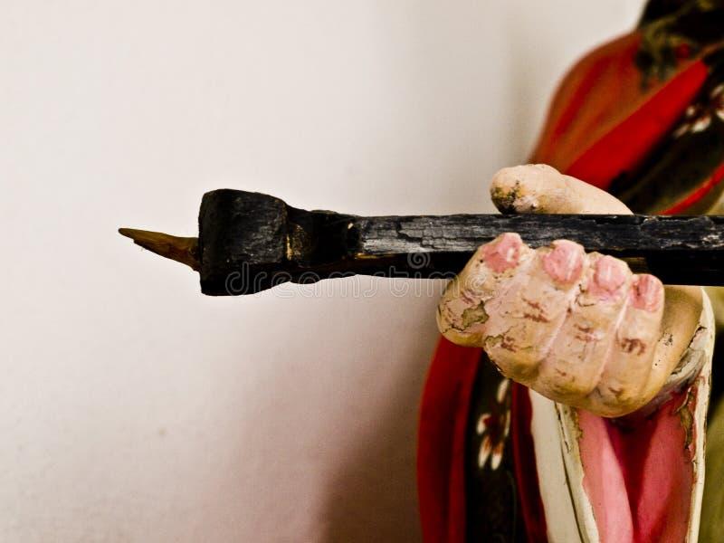 Dettails de uma arte católica, escultura imagens de stock