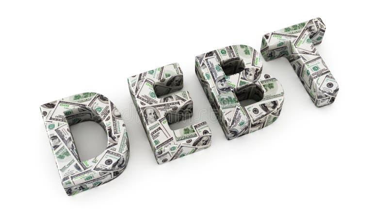 Dette du dollar illustration stock