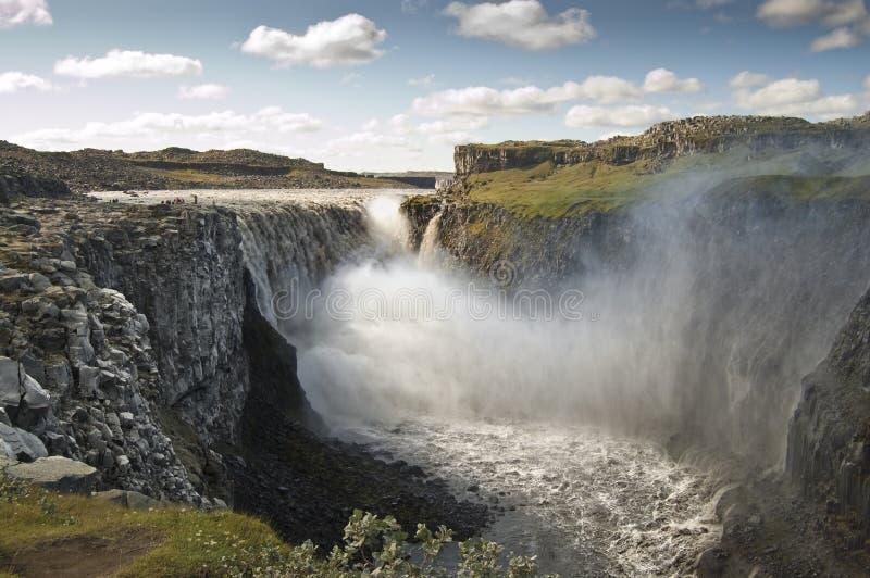dettifoss冰岛瀑布 免版税库存图片