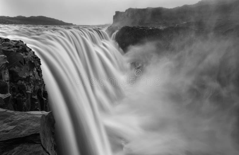 Dettifoss Τοποθετημένος σε Vatnajokull Ν Π στη βορειοανατολική Ισλανδία, στοκ φωτογραφία