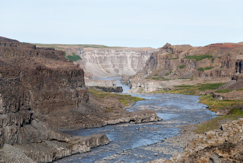 Dettifoss in Iceland stock images