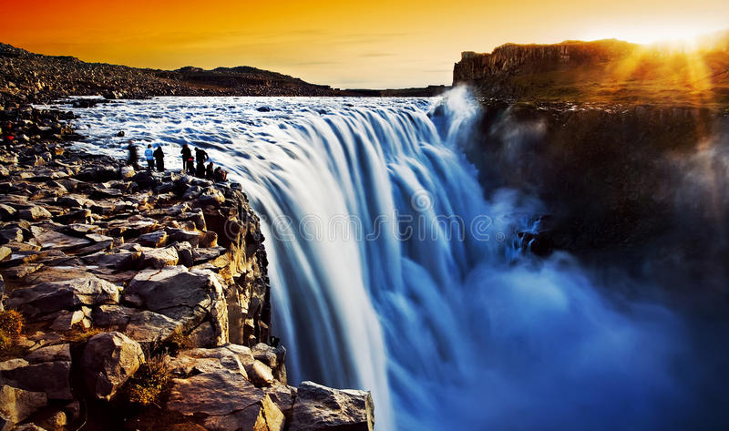 Download Dettifoss, Iceland stock image. Image of amazing, light - 24480033