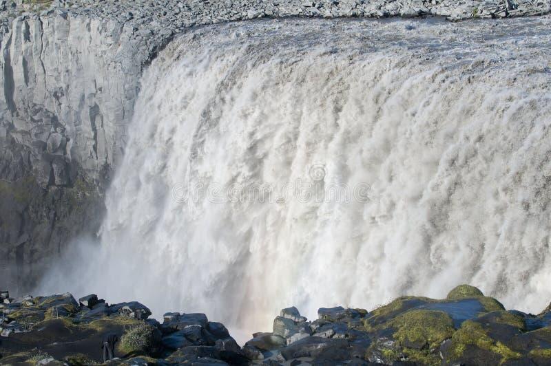 Dettifoss, Islândia foto de stock