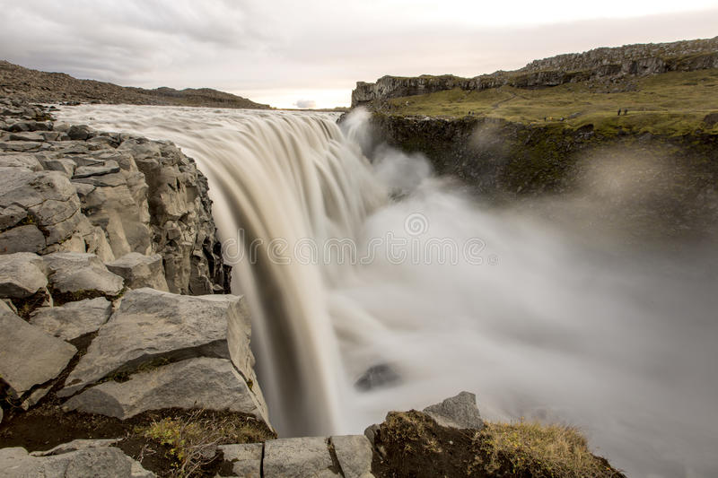 Dettifoss. Longexposure of dettifoss in northern iceland royalty free stock images
