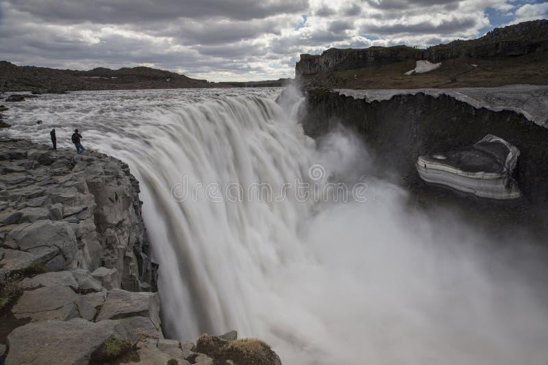 Dettifoss vattenfall royaltyfria bilder