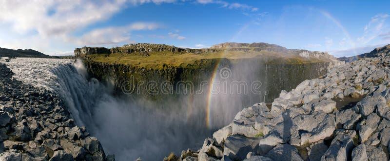 Dettifoss-Wasserfall lizenzfreie stockfotos