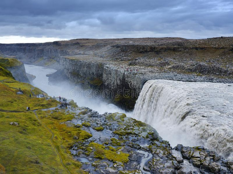 Dettifoss waterfall - the most powerful waterfall in Europe. stock photography