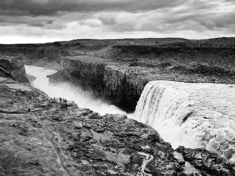 Dettifoss waterfall - the most powerful waterfall in Europe. stock image