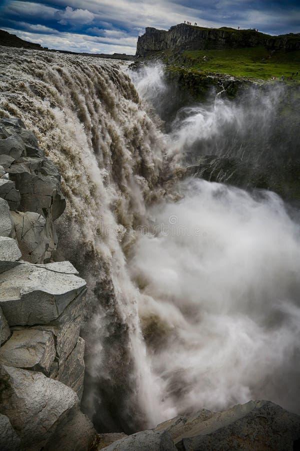 Dettifoss Waterfallin IJsland stock fotografie