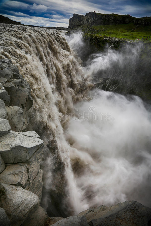 Dettifoss Waterfallin Island stockfotografie