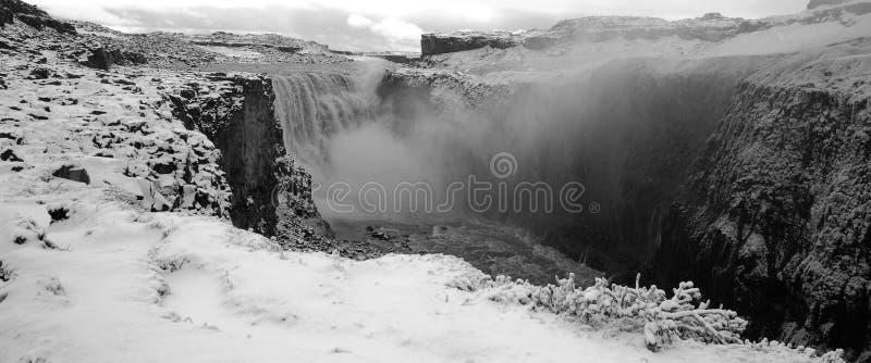 Dettifossna vattenfall, Island royaltyfri foto