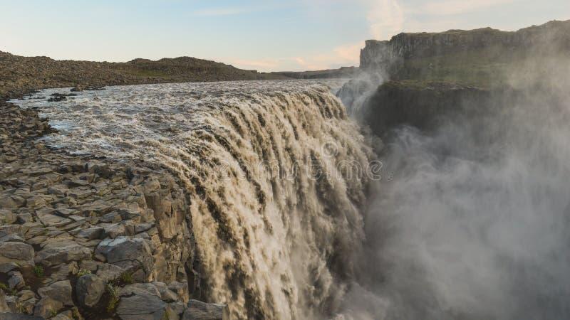 Dettifosswaterval, Noord-IJsland royalty-vrije stock fotografie