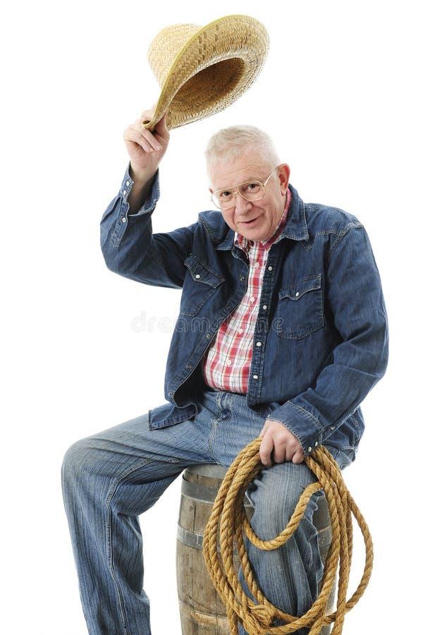 Detto senior, Howdy fotografie stock