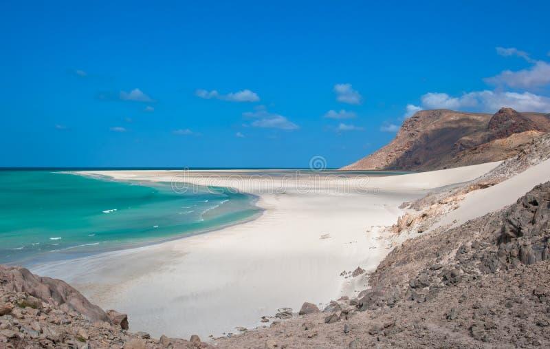 detwah海岛盐水湖索科特拉岛也门 库存照片