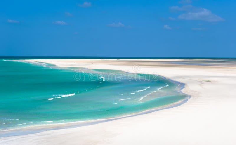 Detwah盐水湖,索科特拉岛,也门 免版税库存图片