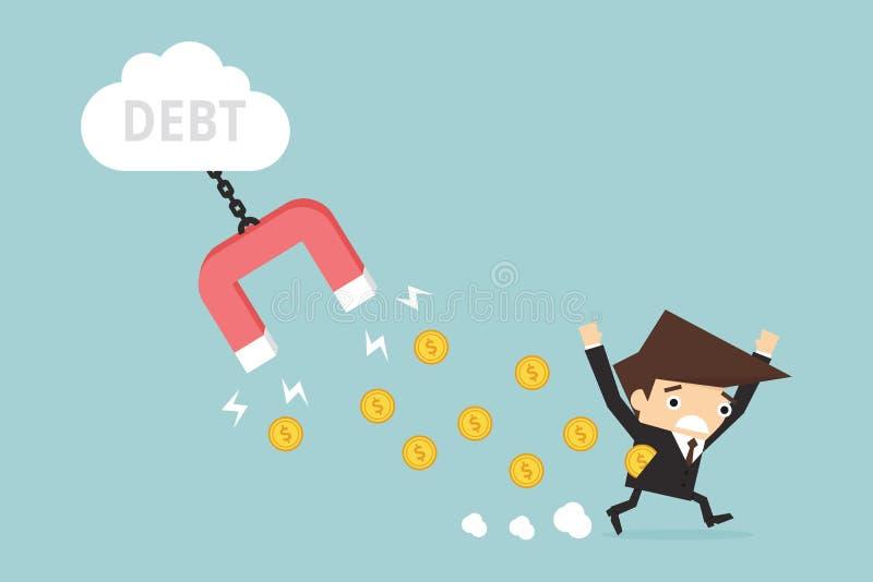 deuda ilustración del vector