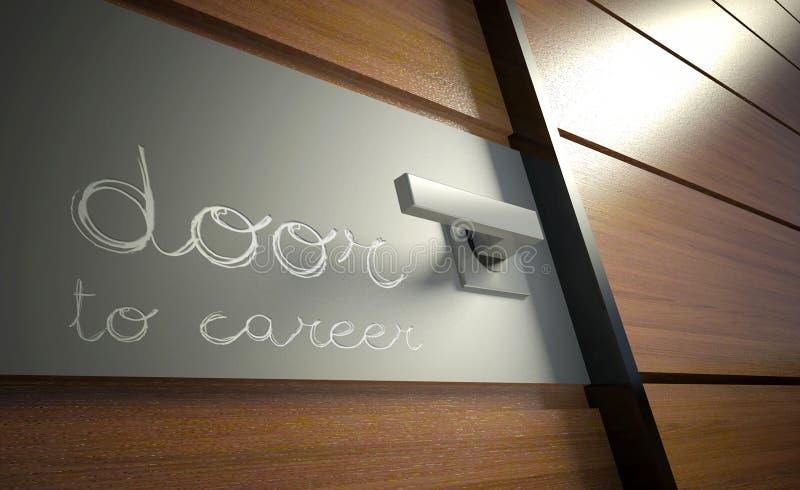 Deur aan carrière. Kans voor succes in zaken stock afbeeldingen