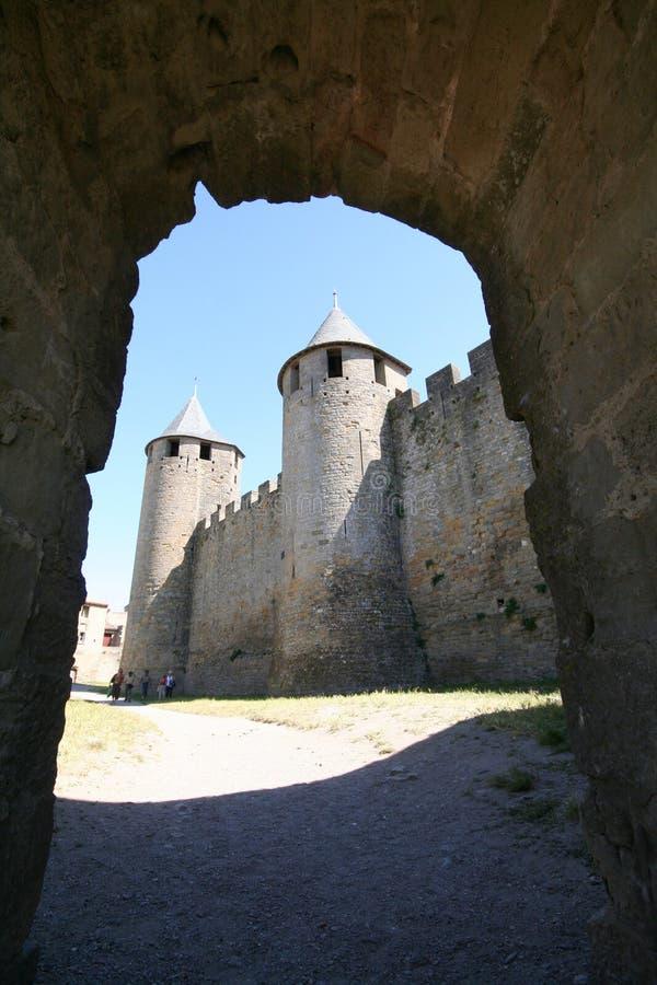 Deur aan kasteel royalty-vrije stock foto