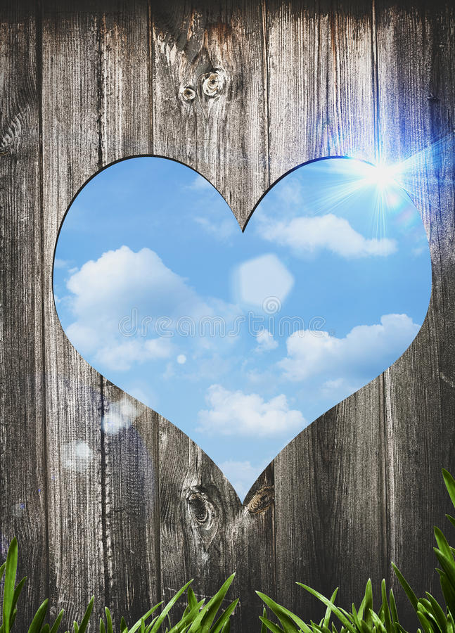 Deur aan liefde. stock foto's