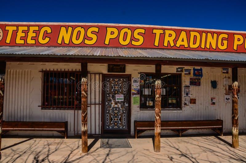 Deur - de Handelpost van Teec Nrs. Pos stock foto's
