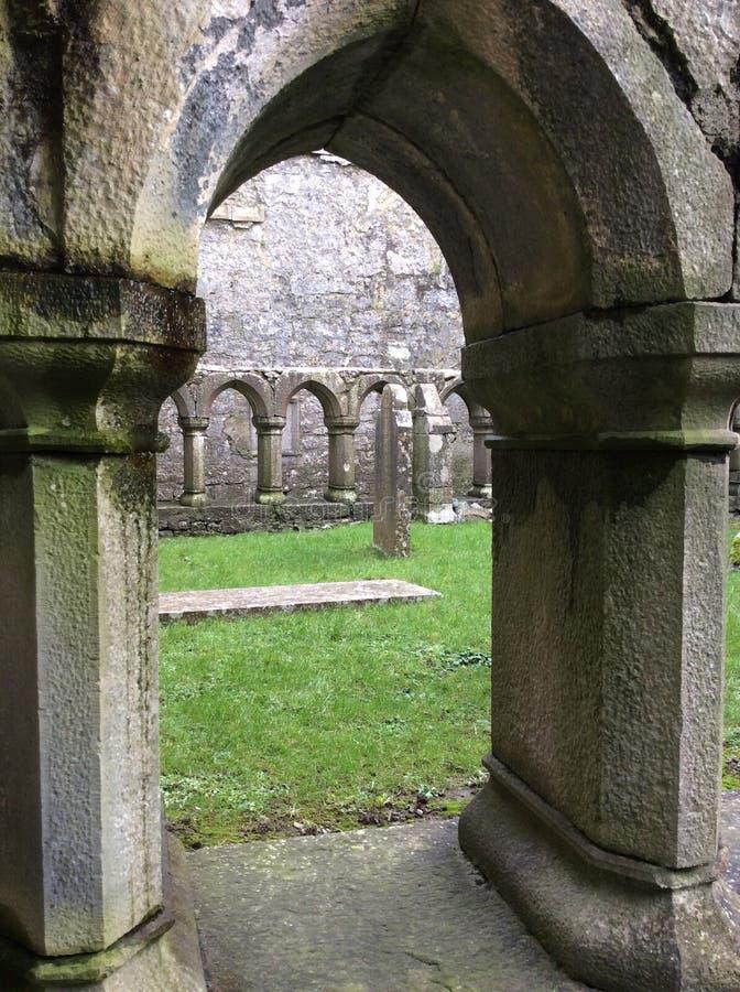 Deur, de Ierse, oude bouw stock afbeeldingen