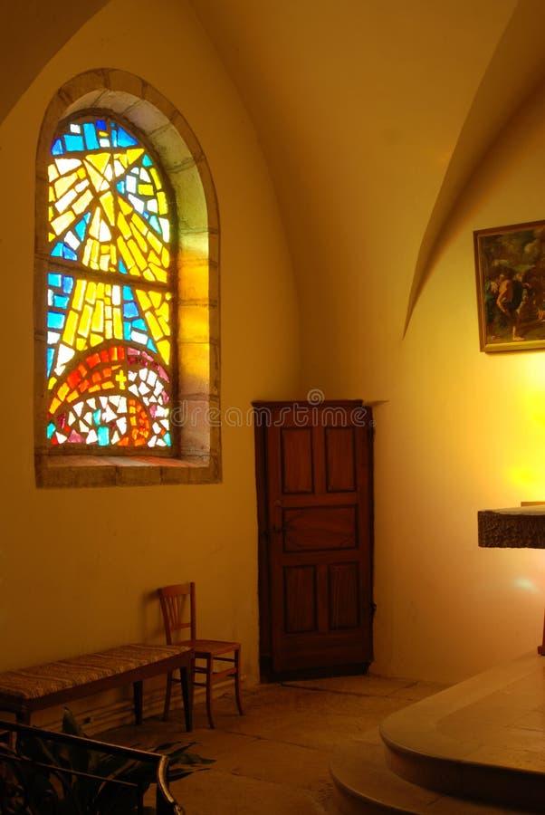Deur in een kerk royalty-vrije stock afbeelding