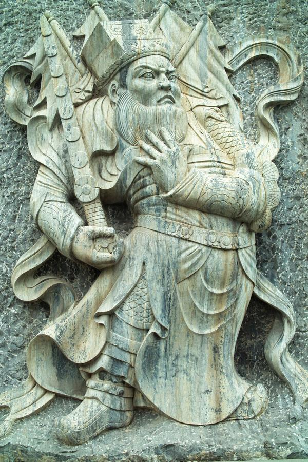 Deur-god (yu-Chi jing-DE): haut-reliëf royalty-vrije stock foto's