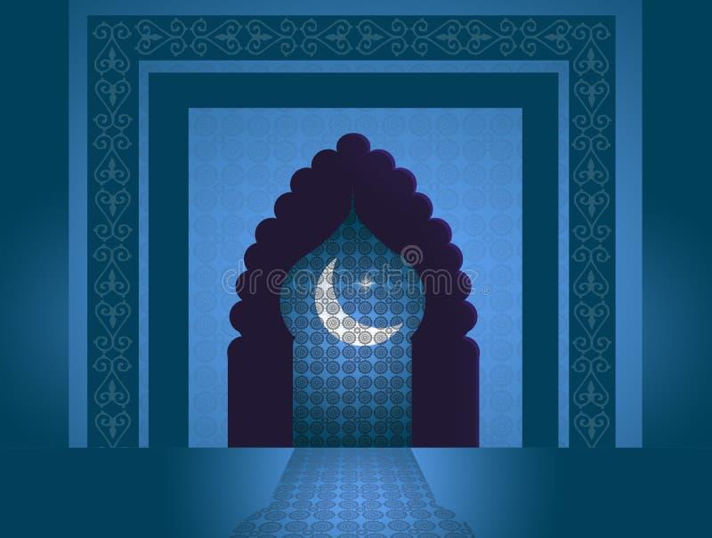 Deur van de Moskee stock illustratie