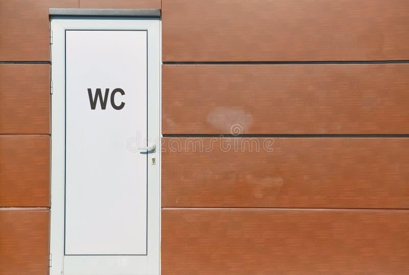 Deur van een openbaar toilet royalty-vrije stock foto's