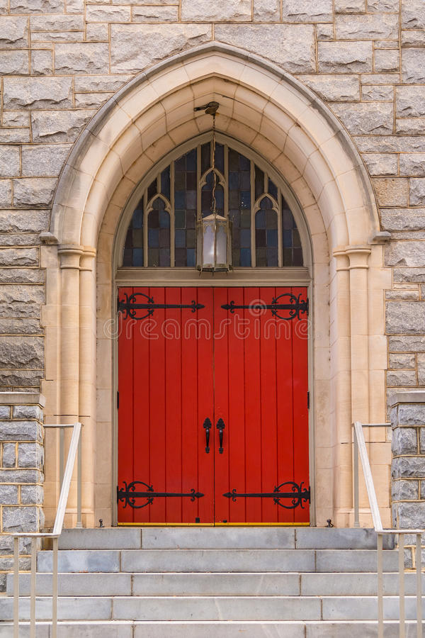 Deur van Heilige Mark United Methodist Church, Atlanta, de V.S. royalty-vrije stock fotografie