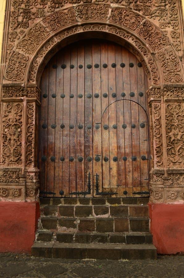 Deur van Huatapera in Uruapan wordt gevestigd die royalty-vrije stock foto