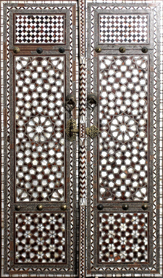 Deur van Topkapi-paleis in Istanboel royalty-vrije stock afbeeldingen
